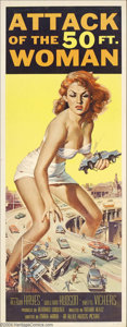 Movie Posters:Science Fiction, Attack of the 50 ft Woman (Allied Artists, 1958)....