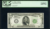 Fr. 1958-L $5 1934B Federal Reserve Note. PCGS Very Choice New 64PPQ