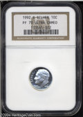 Proof Roosevelt Dimes: , 1992-S Silver PR 70 Deep Cameo NGC. ...