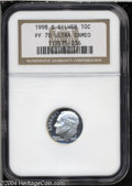 Proof Roosevelt Dimes: , 1998-S Silver PR 70 Deep Cameo NGC. ...
