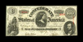 Confederate Notes:1863 Issues, T56 $100 1863. Serial number embossing is retained by this 1stSeries C-note that is only limited by its bottom edge driftin...