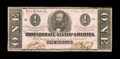 Confederate Notes:1862 Issues, T55 $1 1862. This $1 shows traces of foxing. Crisp Uncirculated....