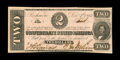 Confederate Notes:1862 Issues, T54 $2 1862. This Deuce has been lightly handled. ExtremelyFine-About Uncirculated....