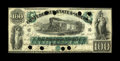 T5 $100 1861. This $100 was printed by the Southern Bank Note Company. It has been cut cancelled and nicely repaired. It...