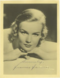 "Movie/TV Memorabilia:Autographs and Signed Items, Frances Farmer Signed Photo. A vintage matte-finish 5"" x 7"" photoportrait of Farmer, signed by the tragic actress in blue f..."