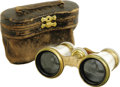 Movie/TV Memorabilia:Memorabilia, Audrey Hepburn Owned Opera Glasses. A pair of stylish, vintageFrench-made, mother of pearl-inlaid opera glasses owned and u...