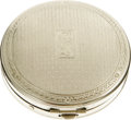"Movie/TV Memorabilia:Props, Carole Lombard's Make-Up Compact. A round, 2"" sterling silvermake-up compact owned and used by Carole Lombard, with her ini..."