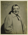 "Movie/TV Memorabilia:Autographs and Signed Items, Rare Peter Lorre Signed ""Man Who Knew Too Much"" Promo Still. Ab&w 8"" x 10"" promo still of Lorre in the original, 1934versi..."