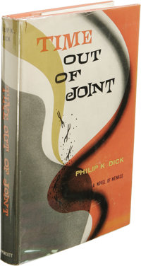 Philip K. Dick: Time Out of Joint. (New York: J. B. Lippincott Company, 1959), first edition, 221 pages, jacket design b...