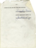 Movie/TV Memorabilia:Autographs and Signed Items, Groucho Marx Signed Contract. A 50-page agreement between Marx andNBC, dated July 27, 1956, and signed by Marx on the last ...