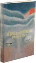 Books:First Editions, Philip K. Dick: A Maze of Death. (New York: Doubleday &Company, Inc., 1970), first edition, 216 pages, jacket by Michel...