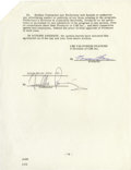 Movie/TV Memorabilia:Autographs and Signed Items, Freddie Prinze Signed Television Contract. Ten-page independent contractor's agreement between CBS and Prinze's production c...