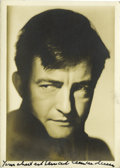 "Movie/TV Memorabilia:Autographs and Signed Items, Claude Rains Signed Photo. A b&w 5"" x 7"" photo inscribed andsigned by the legendary actor in black ink. In Very Fine condit..."