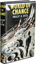 Books:First Editions, Philip K. Dick: World of Chance. (London: Rich and Cowan,1956), first edition, 160 pages, blue cloth with silver letter...