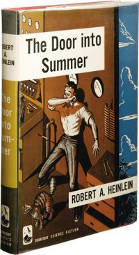 Robert A. Heinlein: The Door Into Summer. (New York: Doubleday & Company, Inc., 1957), first edition, 188 pages, jac...