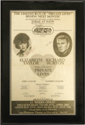 "Movie/TV Memorabilia:Autographs and Signed Items, Advertisement for Elizabeth Taylor and Richard Burton in ""PrivateLives,"" Signed by Both. The 1983 Broadway stage revival of..."