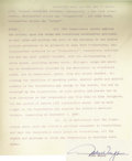 """Movie/TV Memorabilia:Autographs and Signed Items, John Wayne Signed """"The Man Who Shot Liberty Valance"""" Contract. A 56-page employment agreement between Paramount Pictures and..."""