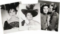 "Movie/TV Memorabilia:Photos, Ava Gardner Oversized Photos. Set of one 11"" x 14"" and two 12"" x16"" b&w prints featuring Gardner. The smaller portrait of A..."