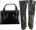 Movie/TV Memorabilia:Memorabilia, Ava Gardner Owned Leather Gucci Hand Bag and Kidskin Gloves. Thisvintage Gucci purse has double front flaps and double hand...
