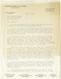 "Movie/TV Memorabilia:Documents, Letter to Marilyn Monroe Regarding Famous ""Life Magazine"" Layout. This letter on Rogers, Cowan and Jacobs Public Relations s..."