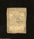 Colonial Notes:Continental Congress Issues, Continental Currency February 17, 1776 $1/6 Very Fine. A ...