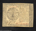 Colonial Notes:Continental Congress Issues, Continental Currency September 26, 1778 $40 Extremely Fine.