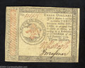 Colonial Notes:Continental Congress Issues, Continental Currency January 14, 1779 $3 Choice Extremely ...