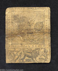 Colonial Notes:Delaware, Delaware June 1, 1759 20s About Fine. Previously sewn ...