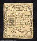 Colonial Notes:Massachusetts, Massachusetts 1779 4s6d Extremely Fine. A beautifully ...