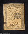 Colonial Notes:Pennsylvania, Pennsylvaina April 25, 1776 2s Extremely Fine. One small, ...