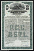 Stocks and Bonds:Railroad Certificates, The Pittsburgh, Cincinnati, Chicago and St. Louis Railroad ...