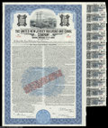 Stocks and Bonds:Railroad Certificates, The United New Jersey Rail Road and Canal Company - $1000 ...