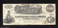 Confederate Notes:1862 Issues, T39 $100 1862. Three interest paid stamps are found on the ...