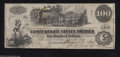 Confederate Notes:1862 Issues, T39 $100 1862. A couple of minor pinholes are present near ...