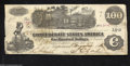 Confederate Notes:1862 Issues, T39 $100 1862. Problem-free but for a tear at the left end....