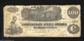 Confederate Notes:1862 Issues, T39 $100 1862. Frayed a bit at the edges and with a few ...
