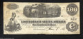 "Confederate Notes:1862 Issues, T40 $100 1863. A lightly circulated example of the ""..."
