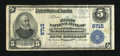 National Bank Notes:Pennsylvania, New Freedom, PA - $5 1902 Plain Back Fr. 598 The First NB Ch. # 6715. ...
