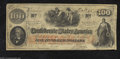 Confederate Notes:1862 Issues, T41 $100 1862. Printed on thin block CSA watermarked paper....