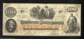 Confederate Notes:1862 Issues, T41 $100 1862. A pretty, lightly circulated unwatermarked ...