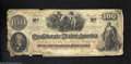 Confederate Notes:1862 Issues, T41 $100 1862. A little ratty but with the paper body of a ...