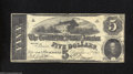 Confederate Notes:1862 Issues, Counterfeit CT53/382 $5 1862. A great Confederate ...