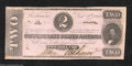 Confederate Notes:1862 Issues, 1862 $2 Judah P. Benjamin, T-54, Crisp Uncirculated. This 1st ...