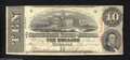 Confederate Notes:1863 Issues, T59 $10 1863. A lightly handled 2nd Series $10 that had to ...