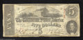 Confederate Notes:1863 Issues, T60 $5 1863. Fine and problem-free for the grade. ...