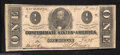 Confederate Notes:1863 Issues, T62 $1 1863. Very Fine-Extremely Fine, a nice example ...