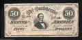 Confederate Notes:1864 Issues, T66 $50 1864. The back is a rich blue on this 2 Series $50 ...