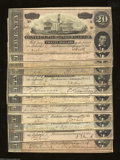 Confederate Notes:1864 Issues, Complete Series Set of 12 T67 $20s 1864. This lot is ... (12 notes)