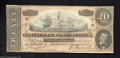Confederate Notes:1864 Issues, T67 $20 1864. Third in a run of four consecutive. Crisp ...