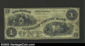 Obsoletes By State:Maryland, 1861 $1 Allegany County Bank, Cumberland, MD, Fine+. ...